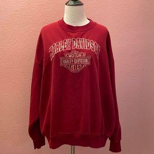 Harley Davidson motorcycles Burgundy sweatshirt